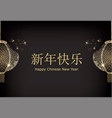 chinese traditional lantern separated on two parts vector image vector image