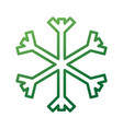 christmas snowflake snow decoration winter symbol vector image vector image