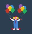 circus clown with balloons vector image vector image