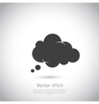 cloud icon speech bubble vector image vector image