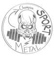 cool skull logo vector image vector image