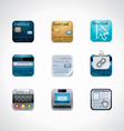 credit card square icon set vector image vector image