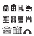 different kinds of houses and buildings vector image vector image