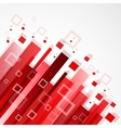 Digital red background vector image vector image