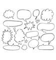 doodle style comic balloon bubbles vector image