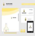 drink bottle business logo file cover visiting vector image vector image