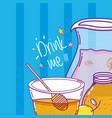 drink me juice cute cartoons vector image vector image
