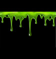 dripping green slime with blobs seamless border vector image vector image