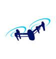 drone attack blue symbol logo design vector image vector image