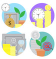 financial investments and savings icons set vector image