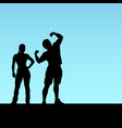 fitness coaches silhouettes vector image vector image