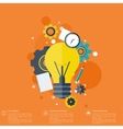 Flat bulb Education concept background Success vector image
