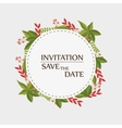 floral invitation save the date vector image vector image