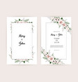 floral wedding invitation botanical card vector image vector image
