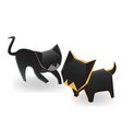 friendly cat and dog vector image vector image