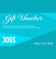 gift voucher flat design background vector image