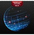 Global Network Wireframe Globe vector image vector image