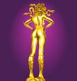 golden statue of medusa vector image vector image