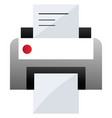 grey and white printer on a white background vector image