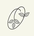 handwritten letter o monogram or logo brand vector image vector image