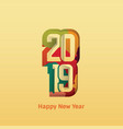 happy new year 2019 text design vector image