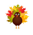 happy thanksgiving with turkey card vector image