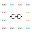 isolated glasses icon spectacles element vector image vector image