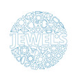jewels background circle shape with luxury vector image