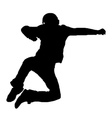 jumping man silhouette vector image vector image