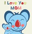 Love u mom koala vector image vector image