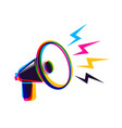 megaphone in cmyk style vector image vector image