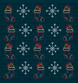 merry christmas wallpaper neon lights vector image