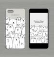 mobile phone design polar bears family vector image vector image