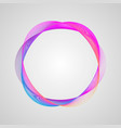 neon effect wavy bright gradient circle frame vector image