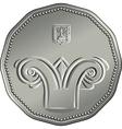 Obverse Israeli silver money five shekel coin vector image vector image