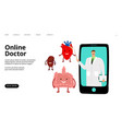 online doctor landing page vector image