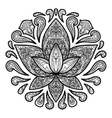 Ornamental Lotus Tattoo Sign vector image vector image
