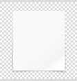 paper frame isolated on transparent background il vector image vector image