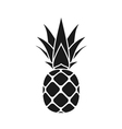 pineapple leaf icon gray vector image vector image