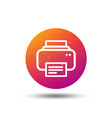 printer icon print documents technology sign vector image