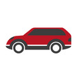 red colored crossover car vector image