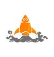 rocket robot vector image vector image
