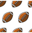 rugby ball or american football equipment seamless vector image vector image
