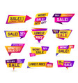 sale badges discount price tag sticker vivid vector image