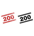 scratched textured and clean 200 stamp prints vector image vector image