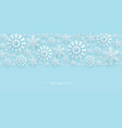 seamless border snowflakes winter new year vector image
