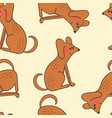 seamless pattern of cute dogs vector image