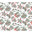seamless pattern with presents stars and vector image vector image