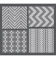Set of 4 monochrome elegant seamless patterns vector image
