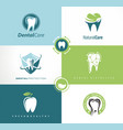 set of creative logo templates for dental clinic vector image vector image